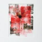Mary Knowland Poppy17 Wychwood Art Original Signed Monoprint in Mount Size 45cmhx37cmw