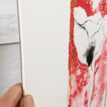 Mary Knowland Poppy18 Wychwood Art Original Monoprint Side View
