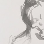 Mary Knowland 'Seated' Wychwood Art Original Figurative Ink Drawing Detail