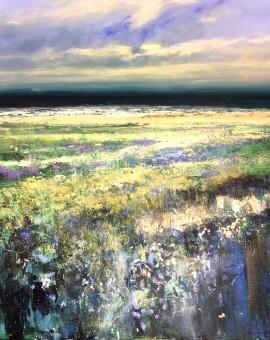 Sea Lavender 100x100cm acrylic on canvas