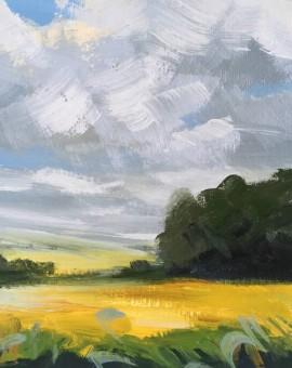 Suzanne Winn Late Summer Study II Wychwood Art Original Landscape Painting