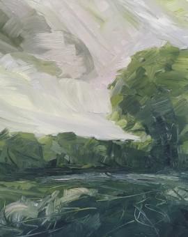 Suzanne Winn The Hedgerow  Wychwood Art Original Landscape Painting