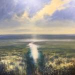 The tide turns 100x100cm acrylic on canvas£1850
