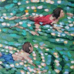 in the swim. gordon hunt. close up
