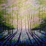 Amanda Horvath Woodland Aurora Landscape Painting, Impressionist Art, Affordable Contemporary Painting
