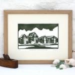 Fiona Carver Fishermen's Huts Southwold Wychwood Art