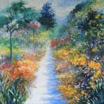 Mary Chaplin summer promenade in Giverny Wychwood Art