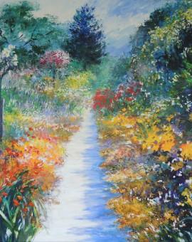 Mary Chaplin summer promenade in Giverny Wychwood Art