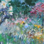 Mary Chaplin summer promenade in Giverny detail4 Wychwood Art
