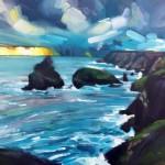 Rachel-Painter—-Even-On-The-Far-Side-Of-The-Sea—Kynance-Cove,-Cornwall—Seascape-Painting – Wychwood Art
