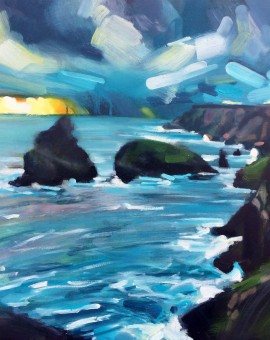Rachel-Painter----Even-On-The-Far-Side-Of-The-Sea---Kynance-Cove,-Cornwall---Seascape-Painting - Wychwood Art