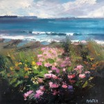 Rachel-Painter—Hold-Onto-Your-Hope-II—Flower Sea Oil Painting -Porthleven -Cornwall–Cornwall-landscape – Wychwood Art