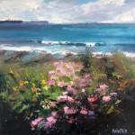 Rachel-Painter—Hold-Onto-Your-Hope-II—Flower Sea Oil Painting -Porthleven -Cornwall–Cornwall-landscape – Wychwood Art