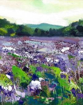 Rachel-Painter---Purple-Fields---Cornwall-Art - Wychwood Art