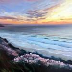 Rachel-Painter—Resting-In-Your-Smile—Porthtowan-Beach–Cornwall-Cornwall-landscape – Wychwood Art