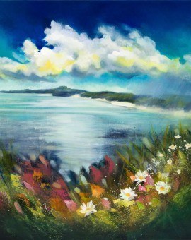 Rachel-Painter---Scatter-The-Seeds-Of-Your-Dreams-Like-Wildflowers---Cornwall-Art---Halzephron-Cliff,-Gunwalloe,-Cornwall---Cornish-Artist- Wychwood Art