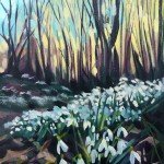 Rachel-Painter—Snowdrop-Valley-II—Exmoor—Woodland-Forest-Oil-Painting
