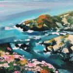 Rachel-Painter—The-Water-&-Horizon-No.4—-Gunwalloe,-Cornwall—Seascape-Painting- Wychwood Art