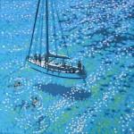 Sailing swim. Gordon Hunt. front view