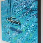 Sailing swim. Gordon Hunt. on the wall