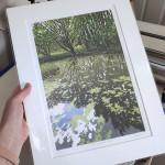 Summer Woodland Pond mounted held