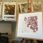Susan NOble Hanami ii framed print on easel