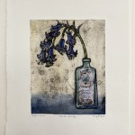 Vicky Oldfield, Quiet Beauty b, Hand coloured collagraph print, Contemporary art, original hand made print