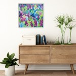 Wildflowers VI Alanna Eakin Framed Painting on Board Bright Colours Cheerful