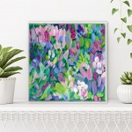 Wildflowers VII Alanna Eakin Bright Colourful Floral Artwork Pastel Colours Bright Green
