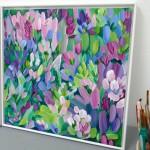 Wildflowers VII Alanna Eakin Square framed artwork studio