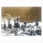 london_gold_II_skyscrapers_city_buildings_cranes_gold_leaf_screenprint_katie_edwards_illustration_art