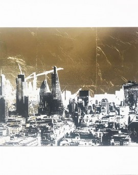 london_gold_II_skyscrapers_city_buildings_cranes_gold_leaf_screenprint_katie_edwards_illustration_art