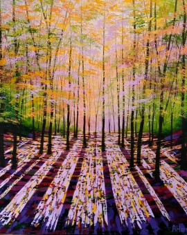 Amanda Horvath Spellbound Landscape Painting, Impressionist Art, Affordable Contemporary Painting