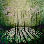 Amanda Horvath  Wild Still Woods       Landscape Painting, Impressionist Art, Affordable Contemporary Painting