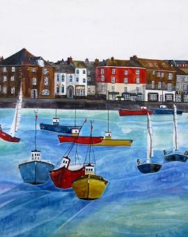 Anya Simmons-Padstow-Harbour-2-Wychwood Art