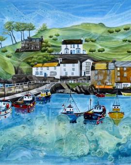 Anya Simmons-Polperro Harbour-Wychwood Art