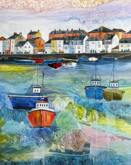 Anya Simmons-Weymouth Harbour-Wychwood Art