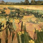Elaine Kazimierczuk, Golden Buttercups with Gold Leaf, Wychwood Art