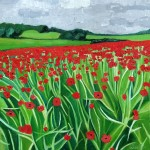 Eleanor-Woolley-_-Cotswold-poppies-_-Landscape-_-Impressionistic