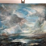 Fast Approaching Deluge (Helen Howells) Easel View