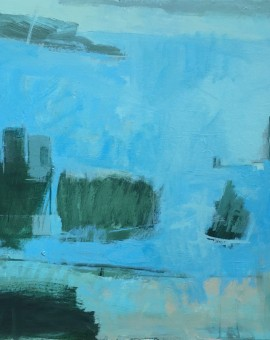 Janet Keith Strong Fjord abstract landscape blue