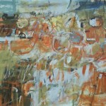 Janet Keith The Birds are Singing Again abstract expressionist landscape Wychwood Art