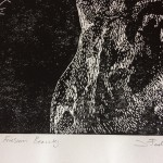 Joanna Padfield Linocut Print Friesian Beauty 3