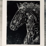 Joanna Padfield Linocut Print Friesian Beauty 8