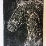 Joanna Padfield Linocut Print Friesian Beauty6