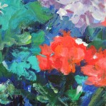 Mary Chaplin the geranium season at Claude  Monet 'shouse in Giverny detail3 Wychwood Art