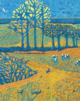 SINGING THE BLUE COWS BY ANDREA ALLEN WYCHWOOD ART JPEG