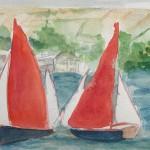 Salcombe Yawls Racing Study Wychwood Art 1