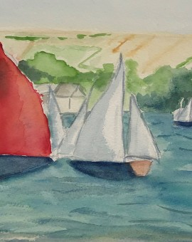 Salcombe Yawls Racing Wychwood Art Full image