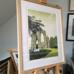 Susan Noble Gisborough Priory on easel framed 2 meg